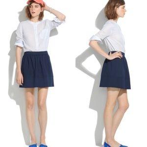 NWOT Madewell Navy Ponte Swivel Mini Skirt